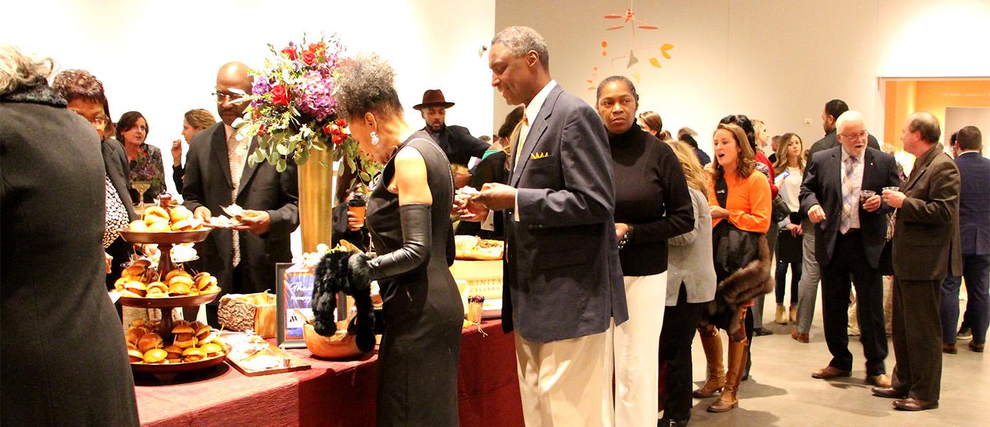 Members enjoy a gala event